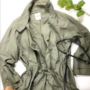 Zara cotton tie waist jacket